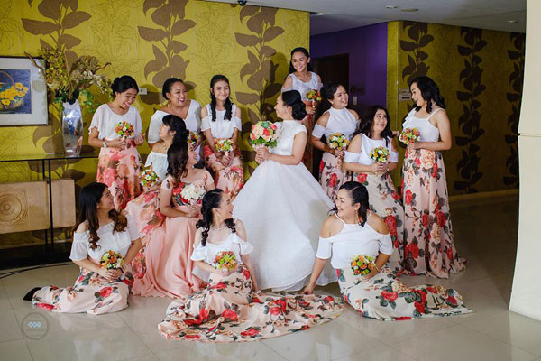 floral bridesmaid dresses by Reche Segura