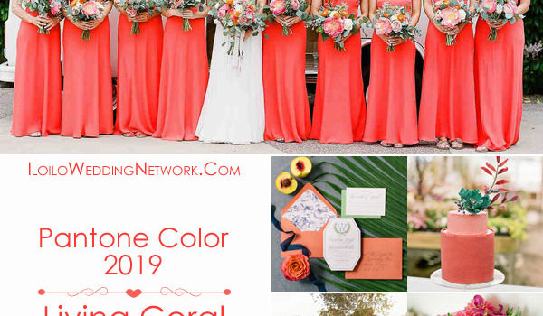 Pantone Color 2019: Living Coral Wedding Motif