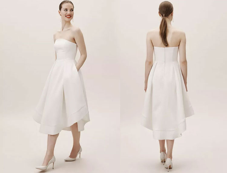 Midi-length wedding dress